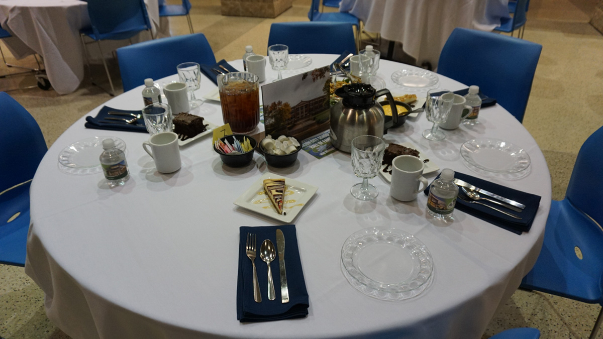 connections weekend induction ceremony table setting.jpg